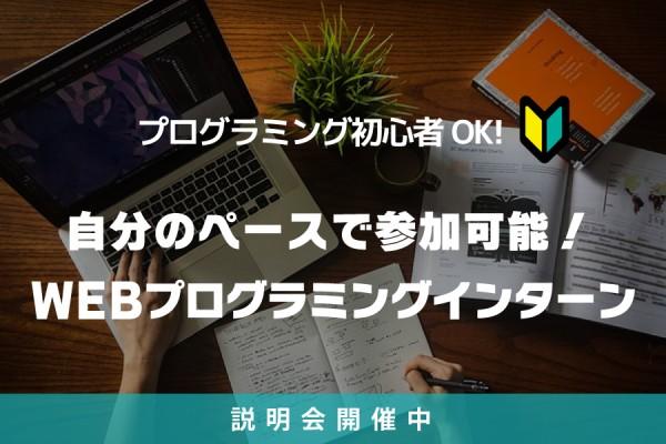 自分のペースで参加可能!WEBプログラミングインターン